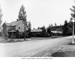 Residential street showing Eatonville Lumber Co. houses ,  Eatonville, ca. 1942