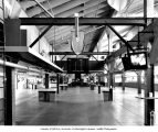 Interior of original grandstand showing east segment of betting room, Longacres Park, September...