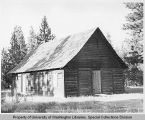 Building that housed the St. Paul's Mission, Hudson's Bay Company trading post at Fort Colville,...