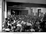 Assembly in school auditorium, Leavenworth, n.d.
