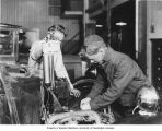 Students in auto class, Edison Vocational School, Seattle, ca. 1937