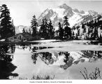 Mt. Baker Lodge store with Mt. Shuksan in background, ca. 1927