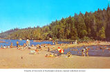 People at Twanoh State Park beach, Hood Canal, n.d.