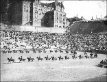 Military drill at the Stadium Bowl, Stadium High School, Tacoma, Washington, ca. 1912