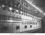 Cavity switchboard at the Snoqualmie Falls Power Company, Snoqualmie, Washington, ca. 1901