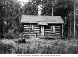 Burrows family log cabin, Killarney (now Bellevue), Washington, n.d.