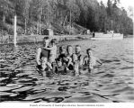 Bathers in Lake Washington at Burrows Landing, Bellevue, Washington, 1919
