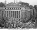 East side of Legislative Building under construction, Washington State Capitol group, Olympia,...