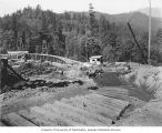 Concrete mixing plant above Lower Baker Dam site, Baker River Power Project, August 28, 1924
