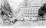 Construction of Cushman Dam power house, Lake Cushman Dam Project, Tacoma Municipal Power System,...