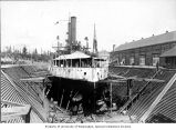 U.S. Battleship IOWA in Puget Sound dry dock, 1899-1900
