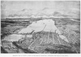 Bird's-eye view of Olympia, capitol of the State of Washigton, overlooking the head of Puget...