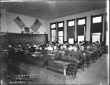 Interior of a public school classroom, Anacortes, Washington, 1904