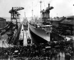 Launching ammunition ships, PYRO and NITRO, Puget Sound Navy Yard, Bremerton, December 16, 1919