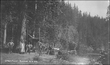 Camp on the Skykomish River, Washington, ca. 1892