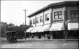 Street scene showing the Kirkland Drug Store and offices of Dr. George Davis, Kirkland, ca. 1913