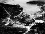 Aerial view of Gorst and Sinclair Inlet, Kitsap county, circa 1950- circa 1960s