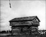 Davis Blockhouse near Coupeville, Whidbey Island, Washington