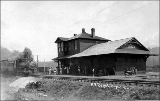 Northern Pacific Railroad station, Dryad, Washington, ca. 1915
