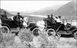 Automobile excursion returning from Chelan, Washington, May 15, 1910