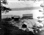 Unidentified buildings, possibly an old cannery near Port Townsend, 1895