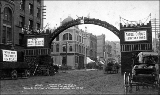 Commemorative arch in Tacoma in celebration of President Benjamin Harrison's visit to Washington,...