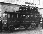 Steam powered bus, Hoquiam, Washington, 1902