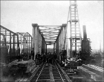Construction of railroad bridge, Whatcom County, Washington, n.d.