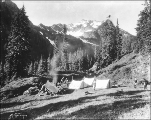 Campsite at Anderson Pass, Olympic National Forest, Washington, ca. 1935