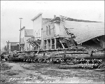 Damage done by flooding of the Skagit River to Front St., Hamilton, Washington, 1896