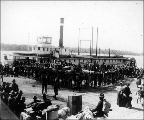 Military troops disembarking in Vancouver, Washington, January 19, 1901