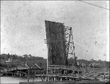 Drawbridge at Olympia, Washington, ca. 1900