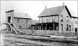 Alexander Playford blacksmith shop and residence, Kent, Washington, 1885