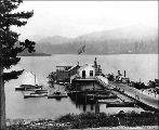 Boat landing on Lake Whatcom, Washington, ca. 1892