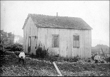 First schoolhouse on Bellingham Bay, New Whatcom, Washington, ca. 1891.
