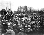 Dedication of the International Peace Arch by Samuel Hill, Blaine, Washington, September 6, 1921.