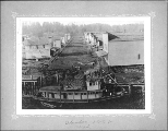 Steamboat CRUISER at the landing, foot of F St., Aberdeen, Washington, 1888