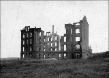 Burned dormitory, State College of Washington, Pullman, Washington, 1897