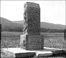 Monument commemorating the spot where the Hudson's Bay Fort Colville was established in 1826 on...