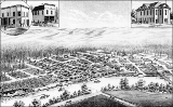 Bird's-eye map of Snohomish, Washington, ca. 1885