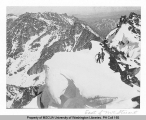 Two mountaineers climbing the summit of Mt. Stuart, n.d.