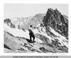 Hiker on Mt. Stuart, n.d.