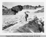 Hiker on Whitechuck Glacier near Little Rock Divide, n.d.