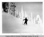 Skier on Governors Ridge, eastern portion of Mount Rainier National Park, n.d.