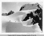 Two skiers near Gargoyle Ridge, n.d.