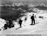 Two skiers on the northeast corner of Mt. Baker near Pumice Stone Pinnacle, n.d.