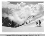 Skiers at Austin Pass, vicnity of Mt. Baker, n.d.