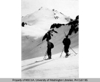 Two skiers on Mt. Baker, n.d.