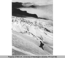 Mountaineer on Cowlitz Glacier, southeast slope of Mt. Rainier, n.d.
