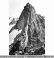 Basalt spire located near South Cascade Glacier off of West Fork of Agnes Creek, 1939